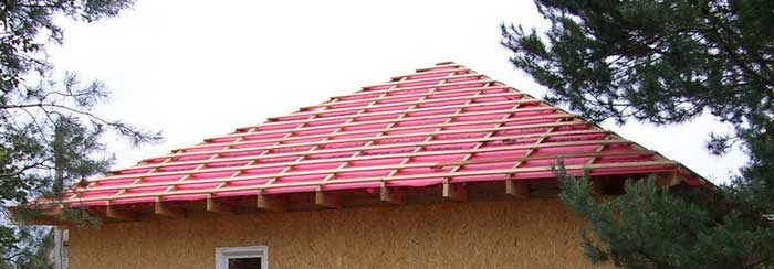 обрешетка шатровой крыши
