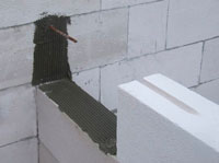 стеновые якоря клаки блоков на клей